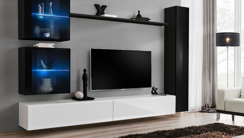 Obývacia stena Switch XVIII 26 ZW SW 18 (s osvetlením)