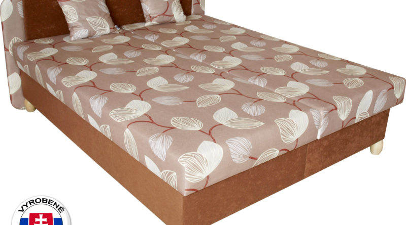 Manželská posteľ 180 cm - Benab - Paris Melody hnedá/Vento hnedá (s roštami