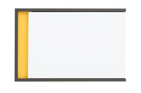 Skrinka na stenu Graphic NAD1D lesk biely