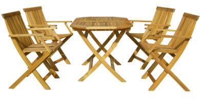 Záhradný nábytok - Hecht - Basic set 4 (akácia)