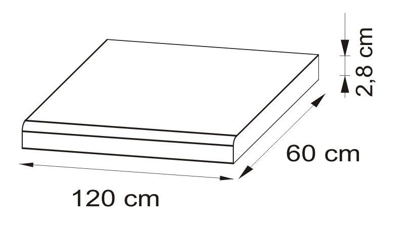 Pracovná doska 120 cm Delicja BLAT-120