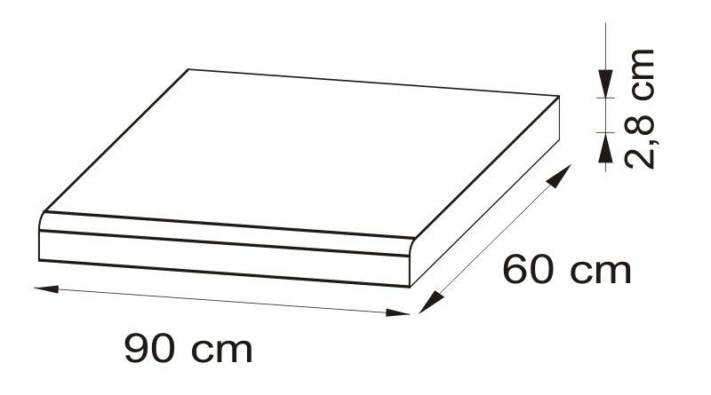 Pracovná doska 90 cm Delicja BLAT-90