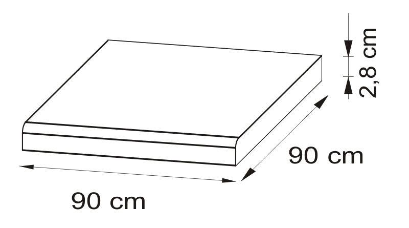 Pracovná doska 90x90 cm Delicja BLAT-90x90