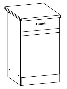 Dolná kuchynská skrinka Eliza EZ13 D50