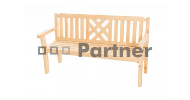 Záhradná lavička Romantic (Borovica masív)