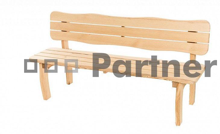Záhradná lavička Viking (Borovica masív)