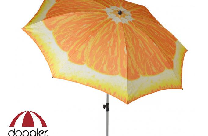 Záhradný slnečník - Doppler - Basic Pomaranč 200 (s balkónovou svorkou)