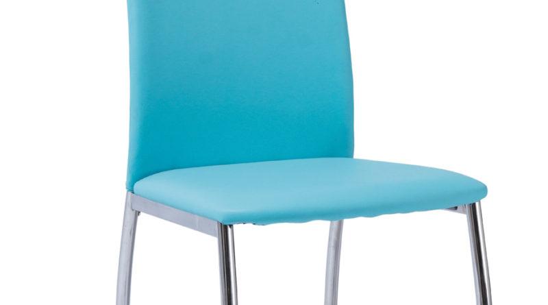Jedálenská stolička H-622 (ekokoža modrá)