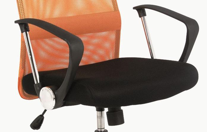 6d588b30b88b Kancelárska stolička Q-025 oranžová + čierna