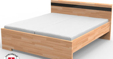 Manželská posteľ 220x200 cm Mona (masív)