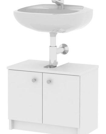 Kúpeľňová skrinka pod umývadlo Galena Si02 2D biela