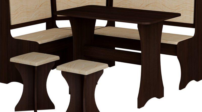 Rohový jedálenský set wenge + monaco (s taburetkami) (pre 5 osôb)