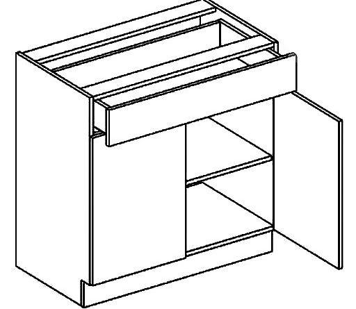 Dolná kuchynská skrinka Moreno D80 1 zásuvka