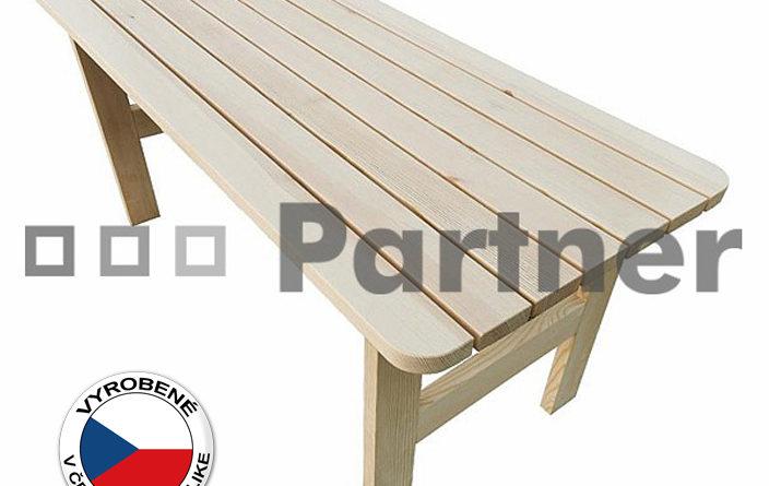 Záhradný stôl Borovica masív 02