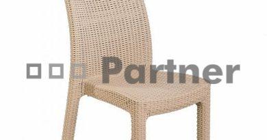 Záhradná stolička Puket piesková (Umelý ratan)