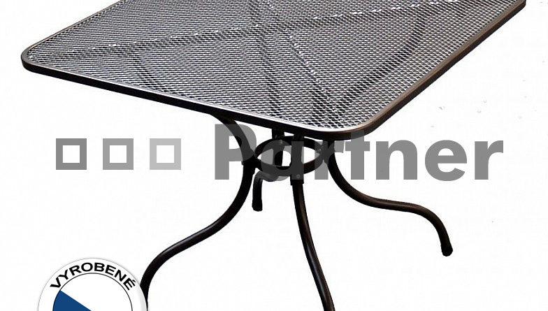 Záhradný stôl 105 x 105 cm (kov)
