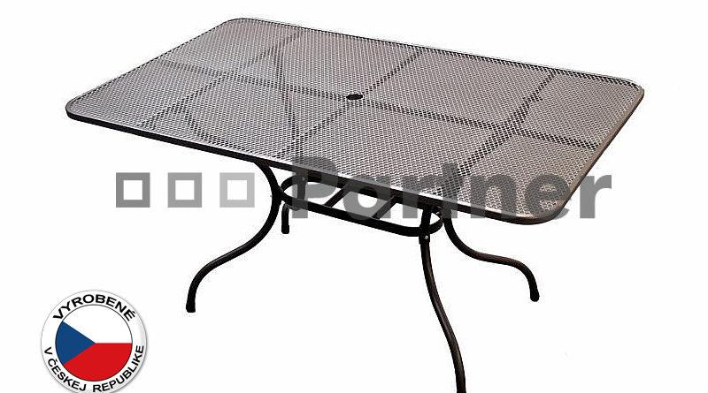 Záhradný stôl 145 x 90 cm (kov)