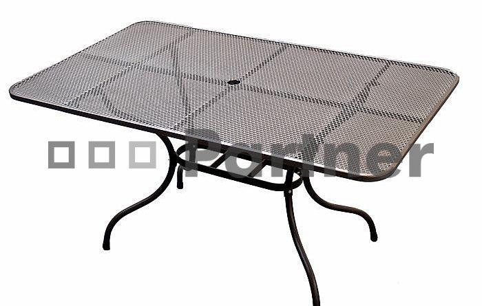 Záhradný stôl 160 x 95 cm (kov)