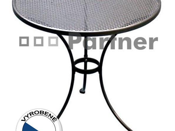 Záhradný stôl okrúhly 70 cm (kov)
