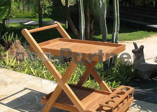 Záhradný servírovací vozík Monte (Teak)