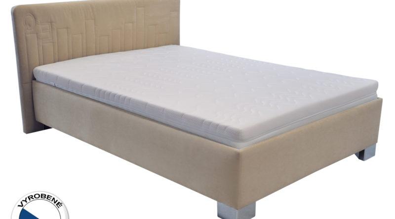 Manželská posteľ 140 cm - Blanár - Dona (béžová) (s roštom)