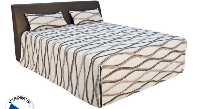 Manželská posteľ 180 cm - Blanár - Merkur (biela + hnedá) (s roštami a matracmi Ivana Plus)