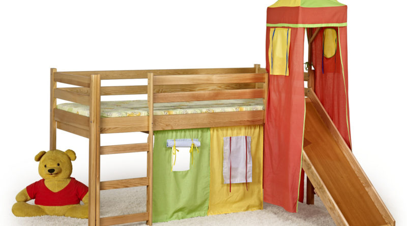 Poschodová posteľ 80 cm Flo Jelša (masív