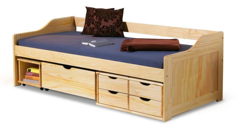 Jednolôžková posteľ 90 cm Maxima (masív