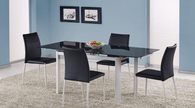 Jedálenský stôl ALSTON čierna (pre 4 až 8 osôb)