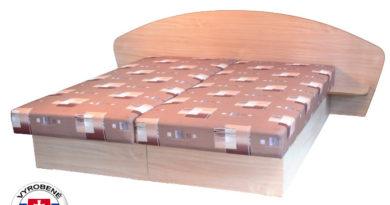 Manželská posteľ 160 cm Edo 7 s policami (so sendvičovým matracom)