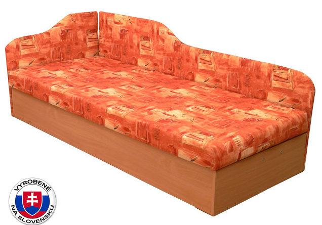 Jednolôžková posteľ (váľanda) 80 cm Edo 4/2 (so sendvičovým matracom) (L)