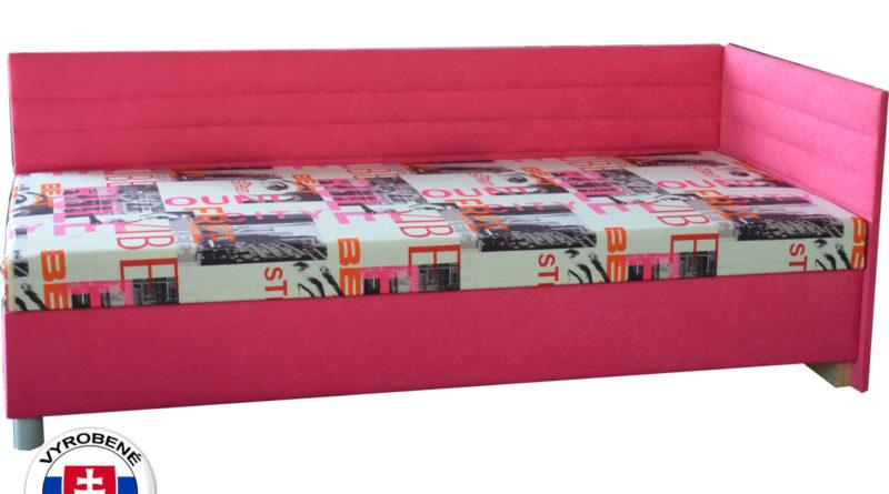 Jednolôžková posteľ (váľanda) 90 cm Etile 2 (so 7-zónovým matracom lux) (P)