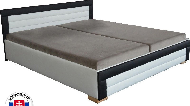 Manželská posteľ 160 cm Jarka (so 7-zónovými matracmi lux)