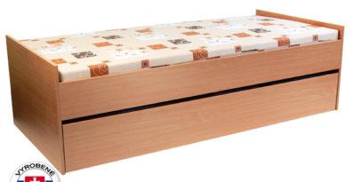 Rozkladacia posteľ 90 cm Nika 2 (s molitanovými matracmi)