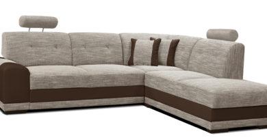 Rohová sedačka Bella II 2F+L (béžová + hnedá) (P)