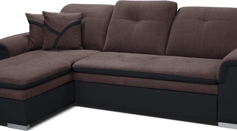 Rohová sedačka Estevan L+2F (hnedá + čierna) (L)