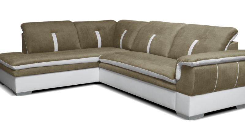 Rohová sedačka Galaxy L+2F (béžová + biela) (L)