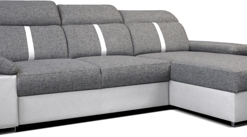 Rohová sedačka Logan 2L (sivá + biela) (P)