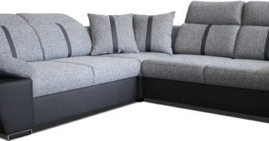 Rohová sedačka Logan (sivá + čierna) (L)