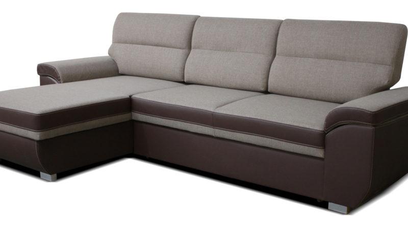 Rohová sedačka Lucan L+2F (béžová + hnedá) (L)