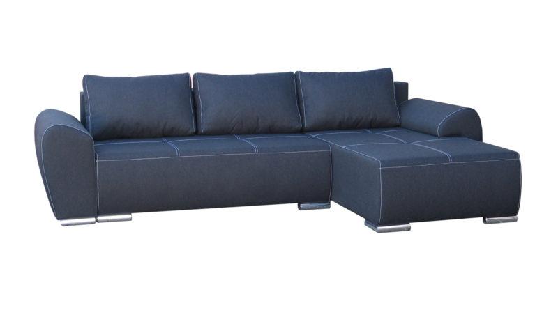 Rohová sedačka Lucy L (modrá) (P)