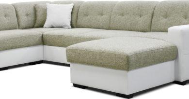 Rohová sedačka U Hampton 1A2L (béžová + biela) (P)