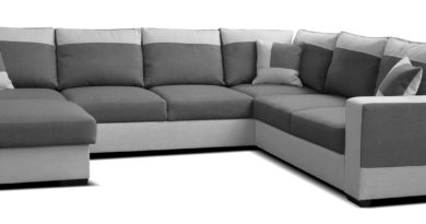 Rohová sedačka U Mega L+2F+A+2 (tmavosivá + sivá) (L)