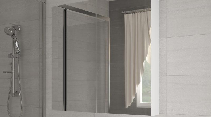Kúpelňová skrinka na stenu Della 100 biela + zrkadlo