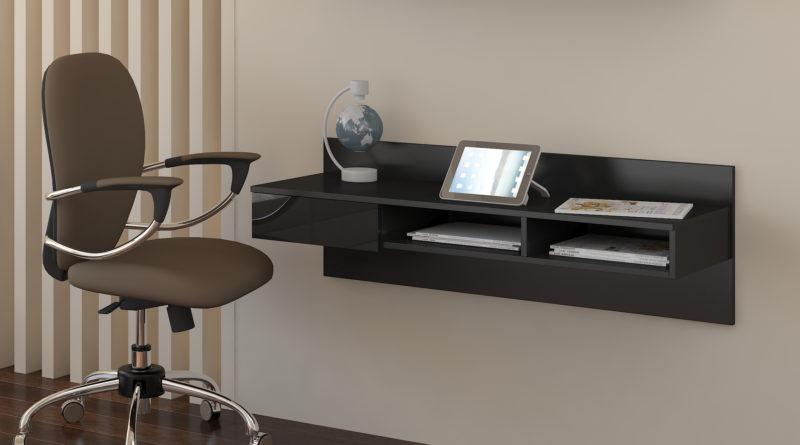 PC stolík Uno čierna + lesk čierny