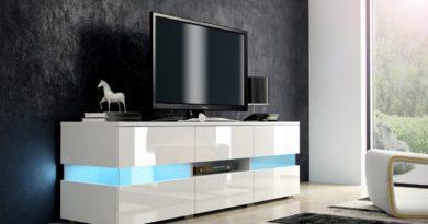 TV stolík Inter biela + lesk biely