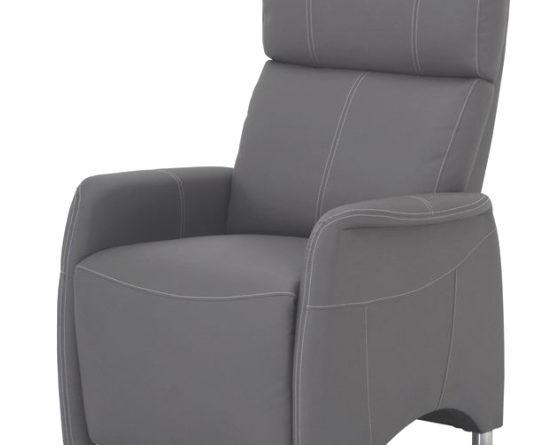 Relaxačné kreslo Forest CH-113100 koža PU šedá